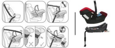 Как установить детское кресло от 0