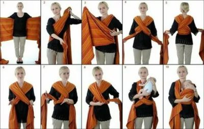 Как использовать слинг шарф для новорожденных