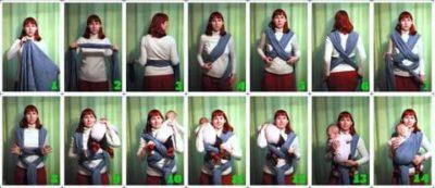 Как сделать слинг из шарфа для новорожденного