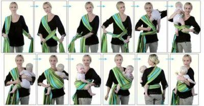Как использовать слинг для новорожденных