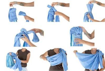 Как правильно носить слинг без колец