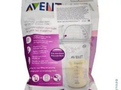 Как открыть пакет для грудного молока Авент