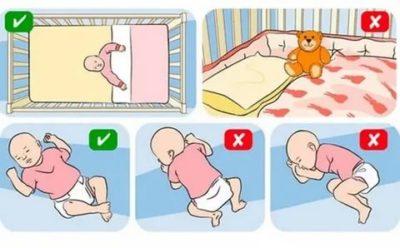В каком положении лучше спать новорожденному