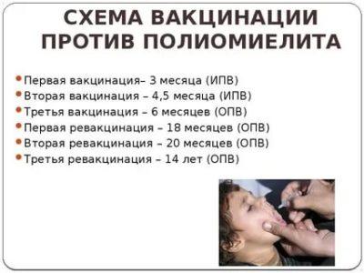 Как переносится прививка от полиомиелита