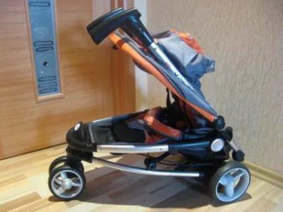 Как сложить детскую коляску инфинити