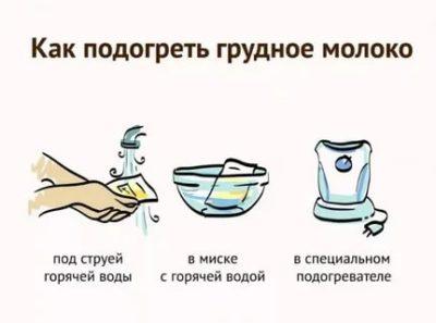 Как правильно подогреть сцеженное грудное молоко
