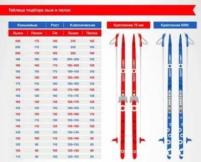 Как подобрать беговые лыжи ребенку по росту