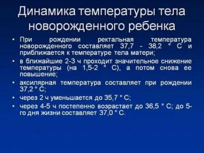 Какая температура в норме у новорожденных