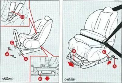 Как снять детское кресло