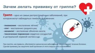 Почему надо делать прививку от гриппа