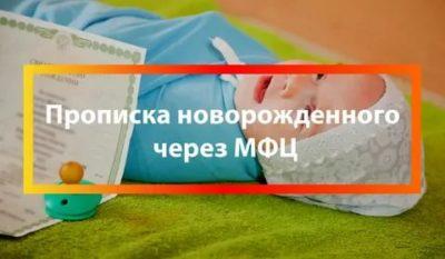 Как прописать новорожденного ребенка через Мфц