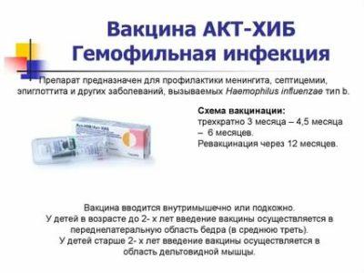 Как называется прививка от гемофильной инфекции